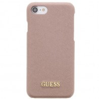 Guess - Saffiano Hoesje iPhone 7 Plus Rose 01