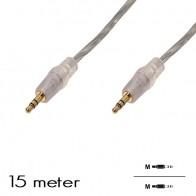 """OEM - Audio kabel """"Jack 3.5mm"""" M/M (15 Meter)"""