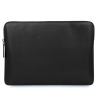 Knomo - Embossed Laptop Sleeve 12 inch Black 01