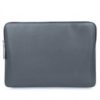 Knomo - Embossed Laptop Sleeve 15 inch MacBook Pro Silver 01
