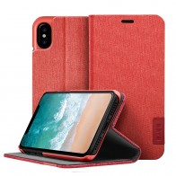 LAUT Apex Knit iPhone X/Xs Wallet Crimson Red - 1