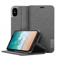 LAUT Apex Knit iPhone X/Xs Wallet Granite Grey - 1