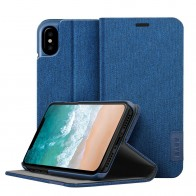 LAUT Apex Knit iPhone X/Xs Wallet Indigo Blue - 1