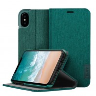 LAUT Apex Knit iPhone X/Xs Wallet Jade Green - 1