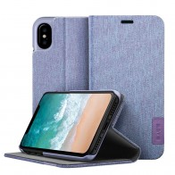LAUT Apex Knit iPhone X Wallet Violet Purple - 1