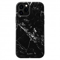 LAUT Huex Elements iPhone 12 Mini Hoesje Zwart Marmer - 1