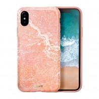 LAUT Huex Metallics iPhone X Pink Marble - 1