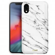 LAUT Huex Elements iPhone XR Hoesje Wit Marmer 01