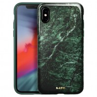 LAUT Huex-E iPhone XS Max Hoes Blauw Marmer 01
