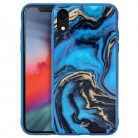 LAUT Mineral Glass Case iPhone XR Blauw 01