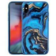 LAUT Mineral Glass iPhone XS Max Case Blauw 01