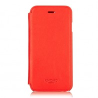 Knomo Leather Folio iPhone 6 Tomato - 1
