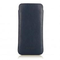 Knomo Leather Slim Sleeve iPhone 6 Blue - 1