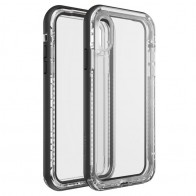 LifeProof Next Extra Stevige iPhone XR Hoes Black Crystal Zwart Transparant 01