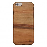 Man & Wood Houten Back Case Capuccino  iPhone 6 / 6S - 1