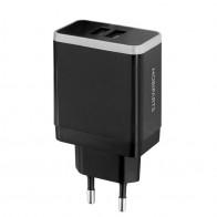 Mobiparts - Dual-Port USB-A Oplader 4.8A/24W Zwart 01