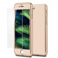 Mobiq 360 Graden Full Body Beschermhoes iPhone 8 Goud - 1
