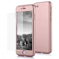 Mobiq 360 Graden Full Body Beschermhoes iPhone 8 Roze - 1