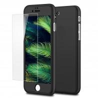 Mobiq 360 Graden Full Body Beschermhoes iPhone 7 Zwart - 1