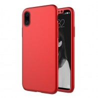 Mobiq 360 Graden Hoesje iPhone XR Rood 01