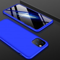 Mobiq 360 Graden Hoesje iPhone 12 / 12 Pro Blauw - 1