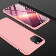 Mobiq 360 Graden Hoesje iPhone 12 / 12 Pro Roze - 1