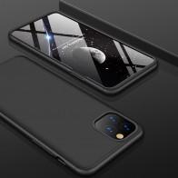 Mobiq 360 Graden Hoesje iPhone 12 / 12 Pro Zwart - 1