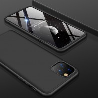 Mobiq 360 Graden Hoesje iPhone 12 Pro Max Zwart - 1