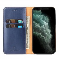 Mobiq Premium Business Wallet iPhone 12 Pro Max Blauw - 1