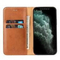 Mobiq Premium Lederen Portemonnee Hoesje iPhone 13 Mini Bruin - 1