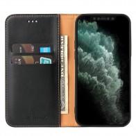 Mobiq Premium Lederen Portemonnee Hoesje iPhone 13 Pro Max Zwart - 1