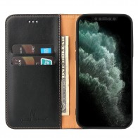 Mobiq Premium Lederen Portemonnee Hoesje iPhone 13 Pro Zwart - 1