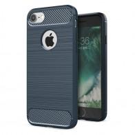 Mobiq - Hybrid Carbon iPhone 8/ 7 Plus Hoesje Blauw - 1