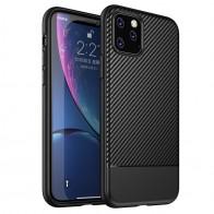 Mobiq - Zakelijk Carbon Hoesje iPhone 11 Pro Max Zwart - 1
