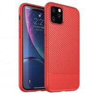 Mobiq - Zakelijk Carbon Hoesje iPhone 11 Rood - 1
