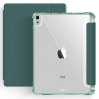 Mobiq Clear Back Folio iPad Air 10.9 (2020) Donkergroen - 1
