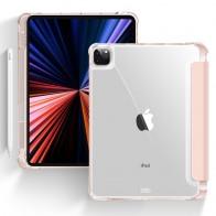 Mobiq - Transparante Trifold iPad Pro 12.9 inch (2021) Hoes Roze - 1