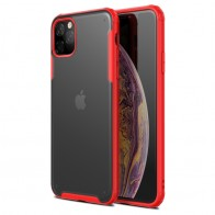 Mobiq Clear Hybrid iPhone 11 Pro Max Hoesje Rood - 1