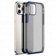 Mobiq Clear Hybrid Case iPhone 12 / 12 Pro 6.1 Blauw - 1