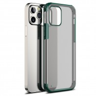 Mobiq Clear Hybrid Case iPhone 12 / 12 Pro 6.1 Groen - 1