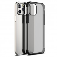 Mobiq Clear Hybrid Case iPhone 12 / 12 Pro 6.1 inch Zwart - 1