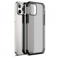 Mobiq Clear Hybrid Case iPhone 12 / 12 Pro 6.1 inch Zwart - 1