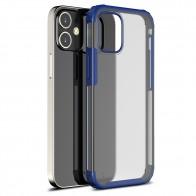 Mobiq Clear Hybrid Case iPhone 12 Mini 5.4 Blauw - 1