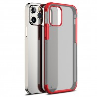 Mobiq Clear Hybrid Case iPhone 12 Pro Max Rood - 1