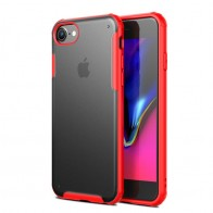 Mobiq Clear Hybrid Case iPhone 8/7 Rood - 1