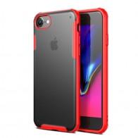 Mobiq Clear Hybrid Case iPhone 8/7 Rood - 1