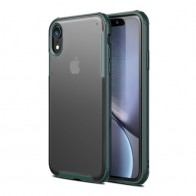 Mobiq - Clear Hybrid Case iPhone XR Groen - 1