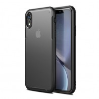 Mobiq - Clear Hybrid Case iPhone XR Zwart - 1