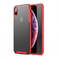 Mobiq - Clear Hybrid Case iPhone X/XS Rood - 1