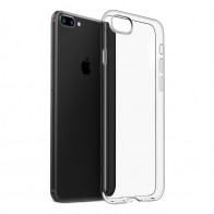 Mobiq - Transparant iPhone 8 Plus/7 Plus TPU Hoesje - 1